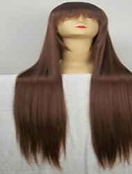 beliebte Cosplay Perücke-Parteiperücke braun cartoons Perücke super lange gerade synthetische animierte Haarperücken