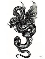 Tatuajes Adhesivos Series de Animal Talla Grande Parte Lumbar Waterproof Hombre Adulto Boy Juventud flash de tatuajeLos tatuajes