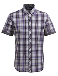 JamesEarl Herren Hemdkragen Kurze Ärmel Shirt & Bluse Lila - DA102005018