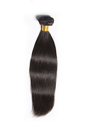"1 Bundles 12""-26""Brazilian Straight Virgin Hair Unprocessed Wefts Natural Black 1B# Human Hair"
