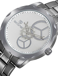 Men's Unique Creative Watch Wrist watch Quartz Stainless Steel Band Silver