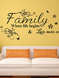 8237 Love Family Quotes Wall Stickers Decorations DIY Home Decals Vinyl Art Room Mural Posters Adesivos De Paredes