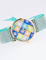 Women's New Trend European Style Fashion Rhinestone Geneva Colorful Squares Bracelet Watch