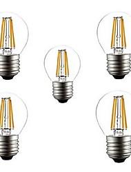 E26/E27 Ampoules à Filament LED G45 4 LED Haute Puissance 400LM lm Blanc Chaud Blanc Froid Décorative AC 100-240 V 5 pièces
