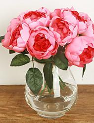 Seide Rosen künstliche Blumen Hochzeit Blumen Mehrfarbenwahlweise 1pc / set