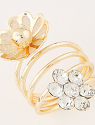Ring Fashion Party Jewelry Alloy Women Statement Rings 1pc,One Size Gold / White
