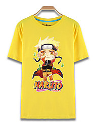 Inspired by Naruto Naruto Uzumaki Anime Cosplay Costumes Cosplay T-shirt Print Yellow Short Sleeve Top