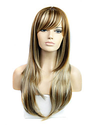 Women's Exquisite Long Length Straight Multi-color Wig
