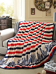 Super Soft Soild Flannel Multicolour Pattern Multi-sized Plush Blanket