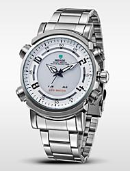 WEIDE® Men's Full Steel Watch Sports Quartz LED Analog Display Wristwatch Cool Watch Unique Watch
