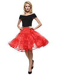 Maggie Tang 50s Retro VTG Pinup Rockabilly Swing Hoopless Petticoat Underskirt Crinoline Tutu Skirt R01