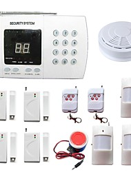 PSTN House Burglar Alarm Systems Security Home Wireless 99 Zones With Smoke Detector PIR Door Sensor Alarme Call