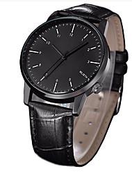 Men's Wrist watch Quartz Leather Band Black