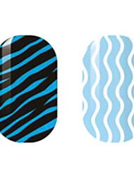 Black/White Hollow Nail Stickers