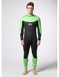 Men's Diving Suit / Wearable / YKK Zipper / Thermal / Warm Drysuits 3 to 3.4 mm Green / Black S / M / L / XL /XXL