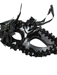 Maske Cosplay Fest/Feiertage Halloween Kostüme Schwarz Druck Maske Halloween Unisex