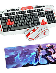 USB 2.4 Gaming Wireless Keyboard Mouse and Pad set  Multimedia Optical Professional Kit Waterproof