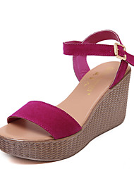 Women's Shoes Leatherette Chunky Heel Wedges / Heels /Basic Pump / Creepers / Comfort / NoveltySandals /