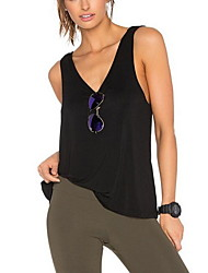 Women's Solid White / Black / Gray Tanks,Round Neck Sleeveless  Tops