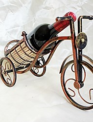 2016  Hot Creative Fashion Copper Color Wine Rack Perfect Quality Tricycle Wine Rack