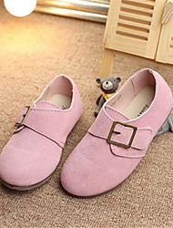 Girl's Winter Comfort Leatherette Outdoor Flat Heel Pink / Red / Gray