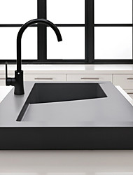 Deck Mounted Sink Mixer Tap Kitchen Faucet Black