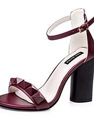 Women's Shoes Silk Stiletto Heel Heels Sandals Casual Black / Pink / Gray / Burgundy