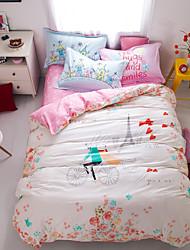 Flowers 100% Cotton Bedding Set print duvet cover Sets  Queen/Double/Full Size