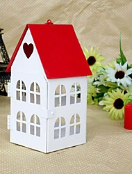 1PC Iron Candlestick Red House Cottage Romantic Wedding Props Home Decoration