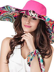 Women Cotton Floppy Hat Facial Hydrating UV Cream,Vintage / Cute / Work / Casual Spring / Summer