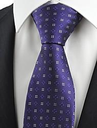Cravate(Violet / Jaune,Polyester)Motif
