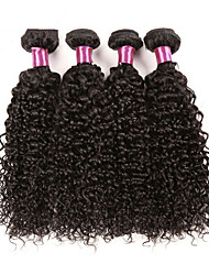 4Pcs/Lot Mongolian Kinky Curly Hair Mongolian  Kinky Curly Virgin Hair Unprocessed Curly Weave Human Hair