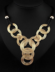 Necklace Chain Necklaces / Y-Necklaces Jewelry Party / Daily Fashionable Alloy / Leather Gold / Silver 1pc Gift