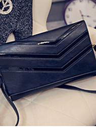 Women PU Evening Bag Gray / Black / Multi-color