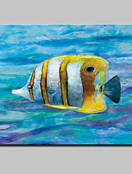Lager Handmade Modern Glofish Oil Painting On Canvas Wall Art For Living Room Home Decor Wall Paintings Whit Frame