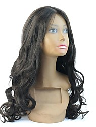 8-24 Inch 180% Density Long Length Wavy Human Hair Full /Lace Front Wig For Black Women