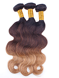 4 Pieces Wavy Human Hair Weaves Brazilian Texture Human Hair Weaves Wavy