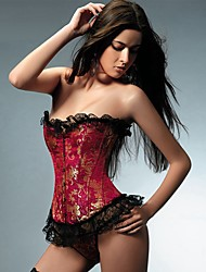 YUIYE® Women Sexy Lingerie Waist Training Corset Bustier Tops Shapewear Plus Size Black Red Overbust Corset S-6XL