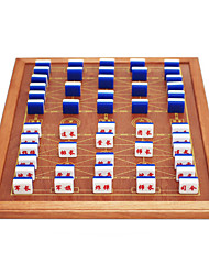 Marines Move Large Marine Military Chess Set Acrylic Materials Solid Wood Package Edge Board 3.7 Black Gold + Board