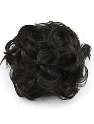 Kinky кудрявый черный Хепберн человеческих волос монолитным парики шиньоны 2