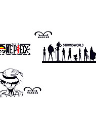 Anime ONE PIECE Family Monkey D. Luffy Wall Stickers Cartoon PVC Bedroom Room Skull Wall Decals