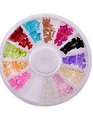 mulheres da moda beleza da arte do prego de glitter ferramentas de decoração 3d bow tie pérola roda unha ferramentas fontes