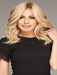 Capless Middle Blonde Color High Quality Synthetic Body Wave Synthetic Wigs