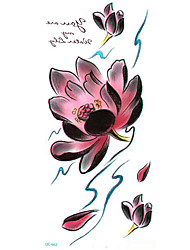 Long Colorful High Solution Sex Products Flowers Lotus Circle Designer Temporary Flash Tatoo Sticker Taty