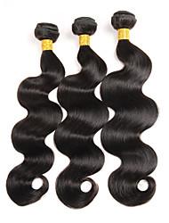 """4 unidades / lote 8 """"-26"""" raw virgem indiano cabelo corpo onda tecer extensões de cabelo 400g"""