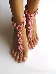 Anklet/Bracelet Others Unique Design Fashion Adjustable Adorable Fabric White Pink Women's Jewelry 1 pair