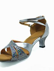 Women's Sparkling Glitter Ankle Stripe Latin Dance Shoes Sandals(More Colors)