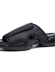 Men's Shoes Casual Fabric Sandals Black / White