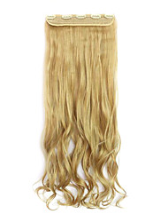 Flaxen Length 70CM Europe and The United States Hot Style Five Clip Clip Hair Curly Hair(Color 25)