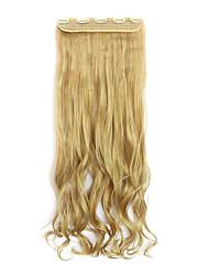 longueur 70cm Lavés europe et les etats-unis style chaud cinq clip clip cheveux cheveux bouclés (couleur 25)